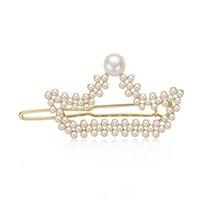 14k oro lleno de perlas PERLAS DE PIERNAS PRINCESS PRINCESS TIARAS CLAW 7,5-8mm Pin de perlas de agua dulce Regalos 210628