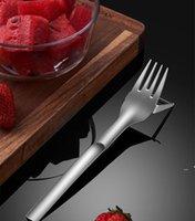 Outils de légumes multifonctions 2 en 1 Fourchette en acier inoxydable Fourchette melon trancheuse coupe-eau Couper de cuisine Cuisine Gadgets CCA7293