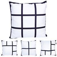 40 * 40 سنتيمتر مخصص فارغة مربع شبكة وسادة القضية التسامي وسادة وسادة غطاء رمي أريكة وسادة 2 أحجام DHF9861
