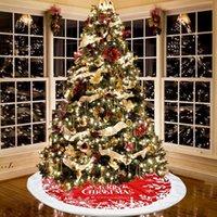 Árbol de navidad Falda Fiesta Árboles de Navidad Decoración inferior Franela Delantal Faldas Festival Suministros RRD11120