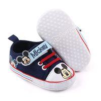 Chaussures de sport Chaussures bébé Tout-petit garçon Première Walkers Bébé fille nouveau-nés Chaussures bébé garçon Cartoon Chaussures 0-18Months