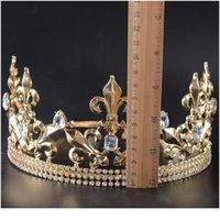 قابل للتعديل جولة الزفاف الملك تيارا تاج خوذة للرجال حزب الشعر الحلي حجر الراين رئيس مجوهرات acc jllpmw