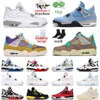 Air Jordan 4 Chaussures de basket-ball pour hommes Noir Black Cat White Cement Bred Cool Grey Cactus Jack Hommes Trainer Baskets de sport