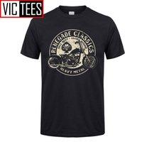 Uomo Vintage Glory Bounds Motorcycle USA T-Shirt Metallo pesante T Shirt T-shirt Top 100% cotone retrò Tees maschio 210304