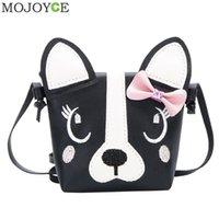 Cão bonito forma crianças bolsa de ombro moda menina ombro mensageiro sacos bebê pu couro crossbody sacos mini meninas bolsas fofas