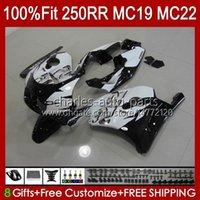 Fairings Injektionsform för Honda CBR 250CC MC19 88-89 CBR 250RR 250 RR CC 250R 1988-1989 112HC.67 CBR250RR 88 89 CBR250 RR CC 1988 1989 OEM FULL BODYS KIT Svart lager
