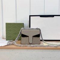 Classic Chain Messenger Bags Designer Bolsa de Moda Feminina Carta Mulheres Impressão Múltiplas Cores Único Saco De Ombro Alta Qualidade Carteira Corporal Cross