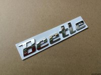 1x 3D 금속 스티커 딱정벌레 엠블럼 배지 크롬 문자 로고 데칼 폭스 바겐 VW 딱정벌레 리어 트렁크 장식 액세서리