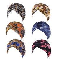 المرأة مزدوجة طبقة زهرة القماش الملتوية الحجاب مقنع غطاء قبعة مسلم قبعة وشاح عمامة رئيس التفاف قبعة 2xpd