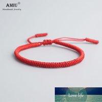 Amiu 41 colores tibetano budista amor afortunado encanto brazaletes tibetanos brazaletes para mujeres hombres nudos hechos a mano Rope Budda pulsera