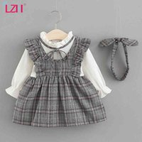 LZH New 2021 Autumn Baby Girls Princess Dress For Baby Girls Casual Plaid Dress Infant Baby Party Dress Kids Newborn Clothes K711
