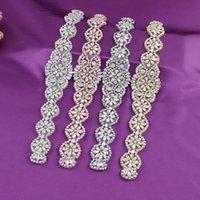 TopQueen Handmade Silber / Gold / Rose Gold Braut Kristall Trim Strass Opal Applique Für Hochzeitskleid Gürtel Kopfbedeckungen S161