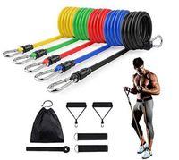 11pcs / 세트 라텍스 저항 밴드 CrossFit 교육 운동 요가 튜브 풀 로프 고무 확장기 탄성 밴드 휘트니스 장비 78 V2