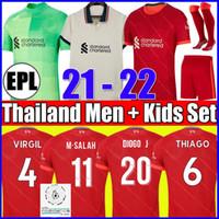 21 22 LVP M.SALAH VIRGIL FIRMINO Liverpool soccer jersey MANE MILNER WIJNALDUM A.BECKER ORIGI ROBERTSON ALEXANDER ARNOLD DIOGO J. 2021 2022 football shirt Men Kids kit
