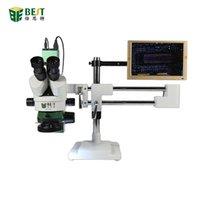 Professionele handgereedschap Sets BST-X7 Dubbele Arm Universal Bracket Trinoculaire Stereo Microscope Mobiele Telefoon Reparatie 7-45x Continue Zoom Long