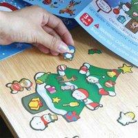 Noel çocuk Karikatür DIY Sticker Sevimli Mini Santa Kardan Adam Noel Ağacı Paster Pencere Masası Kalem Kutusu Çıkartmaları Bavul Çıkartmalar HWB95