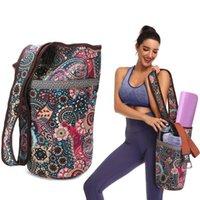 Mode Yoga Matt Tasche Leinwand Yoga Tasche Große Größe Reißverschluss Tasche Fit MEISTER MATS MAT TOTE Sling Carrier Fitnesszubehör