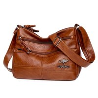 Hand Bag High-quality Texture Women Fashion Simple Soft Genuine Leather Single Zipper Trend Solid Color Wholesale And Retail High Quality Shoulder Messenger Bags