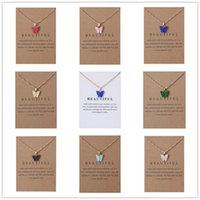 Collier pendentif papillon acrylique, alliage de constellation Pendentif Collier Collier Bijoux Cadeau de bijoux pour femmes