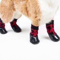 4 pçs / conjunto ao ar livre à prova d'água de nonslip anti-mancha cão de gato meias botas sapatos pata protetor para pequeno cão grande 29 s2
