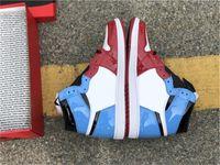 Новый выпуск Аутентичные 1 Высокий OG Бесстрашные Мужчины Женщины Открытые Обувь Белый / Университет Blue-Varsity Red-Black CK5666-100 с оригиналом