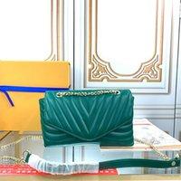 أكياس الكتف m53937 الكتف مصممي المصممين المحافظ النساء حقيبة يد جلدية مشبك رفرف امرأة حقيبة crossbody محفظة