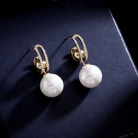 2021 new high-end pearl stud earrings can be detachable, one more fashionable and versatile
