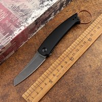 Portable D2 blade G10 kitchen fruit folding knife sharp handle outdoor tactical camping hunting self-defense EDC tool tail ring