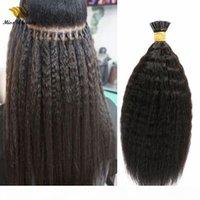 Natürliche Farbe Remy Jungfrau Verknappig Geraden Haarverlängerungen Flauschige menschliche Haarbündel I Tipp Vorkeinigtes Haar 100 g