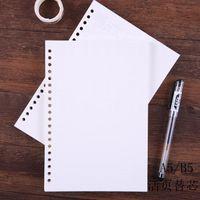 Notepads Gevşek Yaprak Dolum B5A5 El Defteri 26-Delik İç Çekirdek Dizüstü Sayfa Kare Yatay Hat Boş