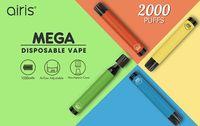 Airis Mega Disposable Cigarette Pod Device 2000 Puff 1050mAh 6ml Prefilled Portable Vape Stick Bar Plus Flow Bang XXL Max Pen Kit