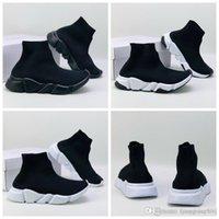 2020 kid ACE Luxury Designer Kids Sock Shoe Speed Trainer Black Red Triple Black Socks boy girl Children Sneakers Trainers Running Shoes KPi