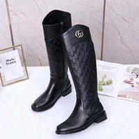 Winter heißer Verkauf Mode Luxus Designer Stiefel Stiefel Flip Leder warm 35-41 Gürtelbox Schuhe 008 2502