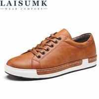 2018 Laisumk homens sapatos Nova chegada moda lace up flats sapatos não deslizante acolhedor de couro genuíno casual j27T #