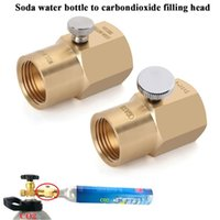 Smart Home Control SodaStream Cylinder Refill Adapter With Switch For Soda Stream Co2 Bottle Bleed Valve TR21-4 To W21.8-14