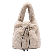 Lady Shoulder Bag Winter Fur Backet Bag Luxury Handbag and Purses Fashion Plush Crossbody Bags for Women 2021 New Luxury Bags