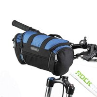 Bolsas de ciclismo Rosheweel 5l Bicicleta Bicicleta Bicicleta Manillar Tubo frontal Pannier Cesta Paquete de hombro