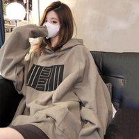 Early autumn mature advanced sense Hoodie women's loose Korean design minority lower garment missing top 6601