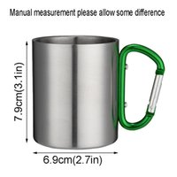 Stainless Steel Mountaineering Buckle Mug Beer Drinking Coffee Cups Camping Travel Outdoor Backpacking Hiking Portable Mugs HWB9296