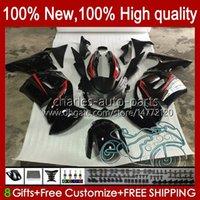Carreying New Red Black Kit para Kawasaki Ninja 650R ER 6F ER 6 F ER6F-650R 29HC.18 ER6 F 650 R ER6F 06 07 08 ER-6F 2006 2007 2008 Cuerpo completo