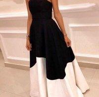 New Arrival Black white formal dress evening gowns 2021 A-Line Vestidos de fiesta Cheap Party dresses woman party night
