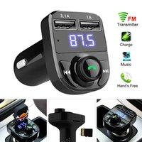 FM X8 передатчик AUX модулятор Bluetooth Handsfree Car Kit Car Audio MP3-плеер с 3.1A быстрой зарядки двойного USB автомобильное зарядное устройство