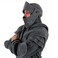 Erkek Hoodies Tişörtü Vin Güzellik Retro Sokak Erkekler Hoodie Seyahat Hallowmas Giyim Ortaçağ Tarzı Cosplay Gotik Uzun Kollu Knight PL