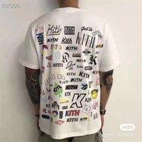 2021 Yeni Voltar Tipo Completo T-Camisa Frente Clssico Kith Kutusu T-Shirt Artstico Fonte Impresso T Segunda-Feira Programa Srie Topos T4YR