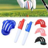 1 Set Golf Ball Triple Track 3 Line-Marker Chrome Stencil +2Pcs Marker Pen Golf-Putting Positioning Aids Outdoor Golf-Sport Tool
