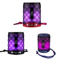 Portátil TG155 Altavoz Bluetooth inalámbrico de manos Llamadas de respuesta gratuita con soporte de micrófono TF Tarjeta FM Mini LED Lámpara de luces coloridas Lámpara Al aire libre subwoofer Hi-Fi Cajas