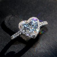 Victoria Wieck Klassische Luxus Schmuck 925 Sterling Silber Birne Schnitt Weiß Topas CZ Diamant Versprechen Ewigkeit Hochzeit Herz Ring Frauen 41 N2