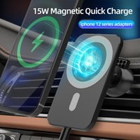 15W Magnetic Mount Stand For iPhone 12 Pro Max Magsafing Car Phone Holder Qi Fast Charging Wireless Charger