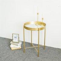 """Whosale Nordic Гостиная Мебель 19 """"Круглый Конец Золотой Металлический Круг Зеркальный Стол для гостиной, Спальня"""