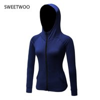 러닝 재킷 여성 스포츠 체육관 후드 긴 소매 요가 재킷 통기성 탑 스포츠 셔츠 야외 조깅
